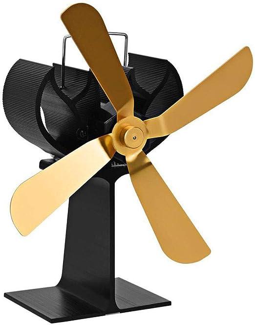 CX ECO Ventiladores de Chimenea de 4 Palas Ventilador de Estufa Alimentado por Calor para Estufas de Gas/Pellet/Madera/leña Circulación de Calor eficiente y ecológica: Amazon.es: Hogar