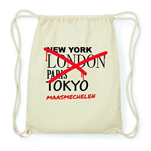 JOllify MAASMECHELEN Hipster Turnbeutel Tasche Rucksack aus Baumwolle - Farbe: natur Design: Grafitti