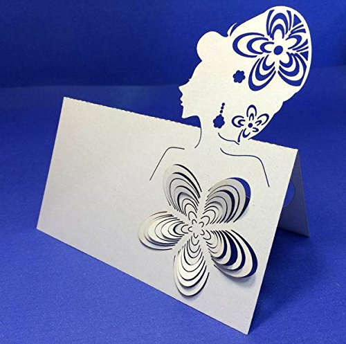 Worldoor® Hot Sale 50ps Personalized Girl Kit Set Laser Cut Wedding Cards Invitations Card Decorations