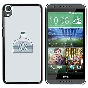 // PHONE CASE GIFT // Duro Estuche protector PC Cáscara Plástico Carcasa Funda Hard Protective Case for HTC Desire 820 / MINIMALIST BOTTLE /