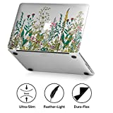GMYLE Ultra-Slim Light Scratch Guard Case for Macbook Pro Retina Display 13 inch (Model: A1425 and A1502) Clear with Garden Flower Pattern [NOT FIT FOR Macbook Pro 13]