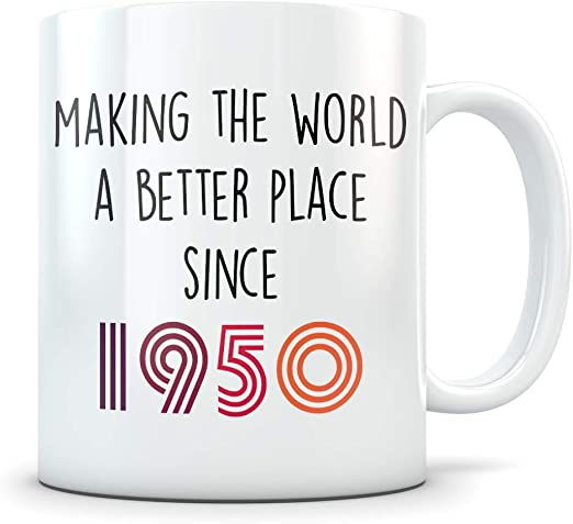Amazon Com Funny 70th Birthday Gift For Women And Men 1950