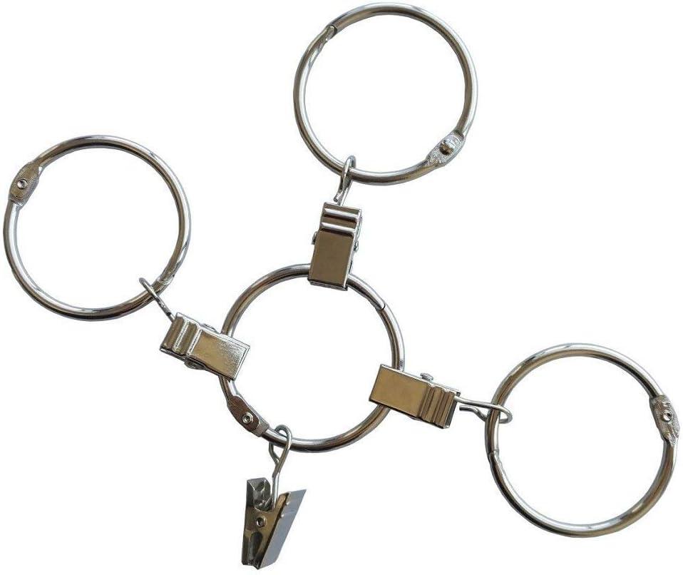 E EBETA Ebeta Vorhangringe mit Clips f/ür Gardinen /& Vorh/änge Metall Gardinenringe Vorhang Clip 30mm