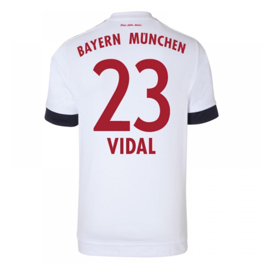 2015-16 Bayern Munich Away Shirt (Vidal 23) B077VLDFQKRed XS 34-36\