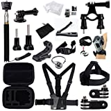 GBB Basic Outdoor Sport Action Camera Accessories Kit Camcorder DV Sets for Gopro Hero Hero1 2 3 3+ 4 Xiaoyi Yi Design for Bicycling(25 items)