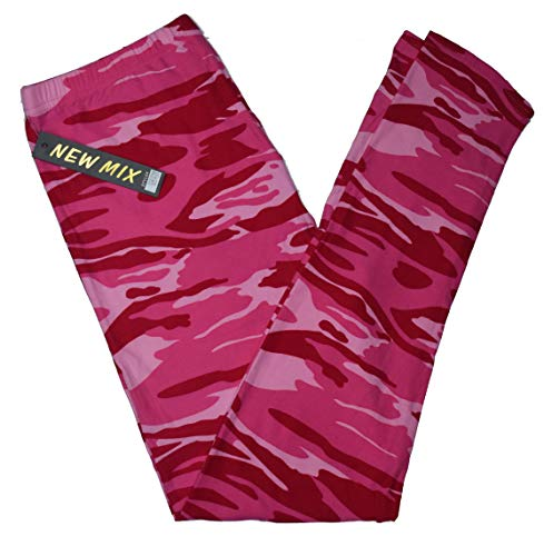 New Mix Premium Ultra Soft Print Leggings (One Size, Pink Camo)