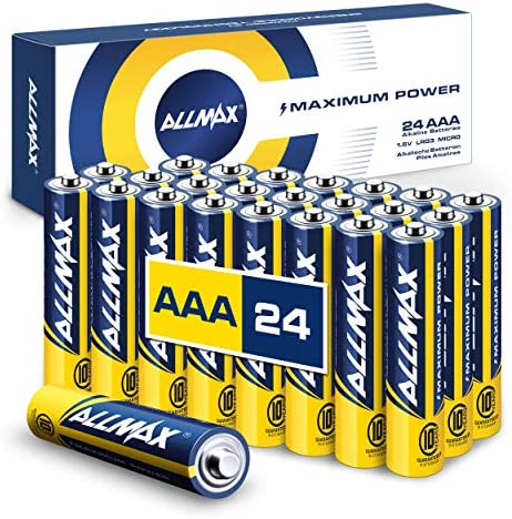 Allmax AAA Maximum Power Alkaline Batteries (24 Count) – Ultra Long-Lasting Triple A Battery, 10-Year Shelf Life, Leak-Proof, Device Compatible – Powered by means of EnergyCircle Technology (1.5 Volt)