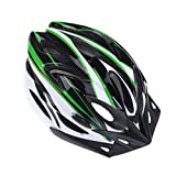 Mountain Road Bicycle Helmets Ultralight 18 Vents Cycling Helmet with Visor (Green)