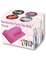 Bachelorette Party Cake Mold 10 Inch - Upgraded Version - Non-stick Heat Resistance Silicone Cake Pan for Bachelorette Party Favors, Supplies, Gifts and Decorations (Pink) by Hinmay