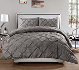 Best King Comforters - Sweet Home Collection 3-Piece Luxurious Pinch Pleat Decorative Review