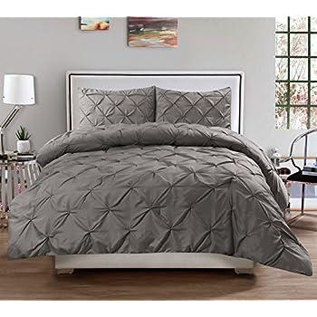 3 piece luxurious pinch pleat decorative pintuck comforter set highest quality wrinkle resistant