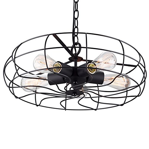 Kira Home Gage 18 Quot Industrial 5 Light Fan Style Metal Cage