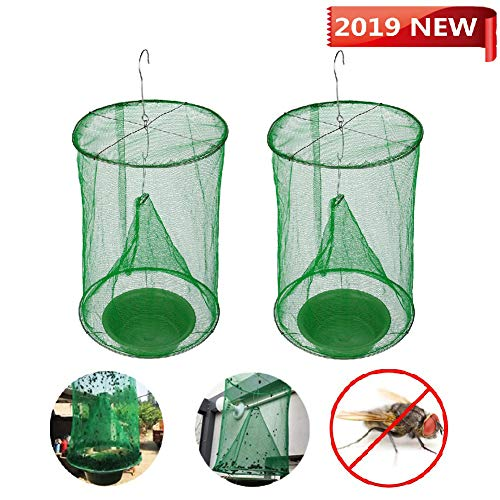 Ranch Fly Trap Fly Catcher Outdoor, The Most Effective Trap Ever Made with Food Bait Flay Catcher for Outdoor Family Farms Park Restaurant
