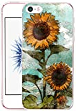 iphone 5 case vintage floral - Iphone 5S Case Sunflower - CCLOT Apple Iphone 5S / Iphone SE / Iphone 5 Cover Protective Vintage Sunflower Flower Floral Pattern (TPU Protective Silicone Cover)