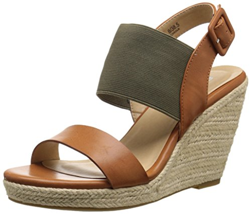 Handbag Laundry Chinese Womens - CL by Chinese Laundry Women's Portia Wedge Sandal, Cognac/Olive Burnished,  8.5 M US