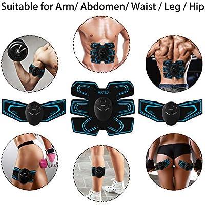 EMS Estimulador Muscular Abdominales EMS Estimulador M/úsculo T/óner Musculares para Un Cuerpo Tonificado Y Definido para Hombre o Mujerzoci zociko Electroestimulador Muscular Abdominales