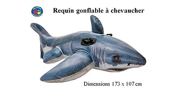 Tiburón hinchable. Boya de montar con asas. Patines: Amazon.es: Hogar