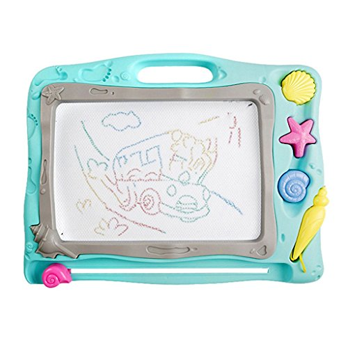 Easels 子供用 図面ボード 赤ちゃん用 磁気ライティングボード 1~3歳 子供用 グラフィティボード 子供用 磁気ペインティングボード 子供のおもちゃ ブルー