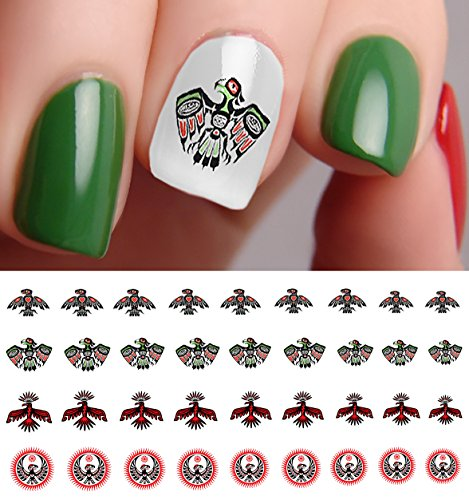 Native American Eagle Water Slide Nail Art Decals - Salon Quality!