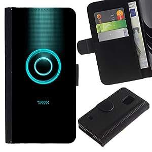 LECELL--Cuero de la tarjeta la carpeta del tirón Smartphone Slots Protección Holder For Samsung Galaxy S5 V SM-G900 -- Tren --