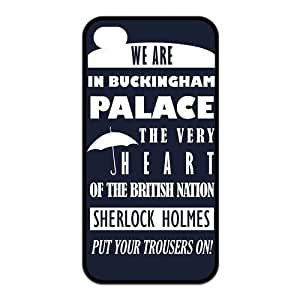 Customized Sherlock Rubber Back Protector Cover Case for iphone 5c TPU