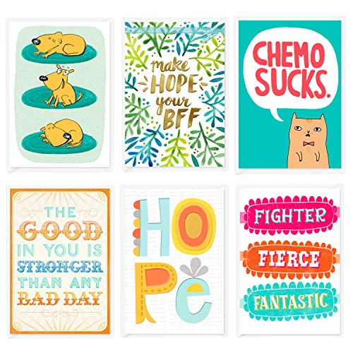 Shoe Box Cards - Hallmark Shoebox Cancer Support Card Assortment (6 Cards with Envelopes)