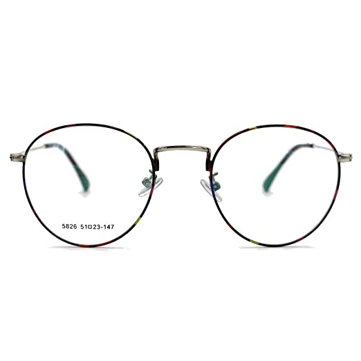 931e43b64f Natwve Co 2018 Vintage Round Circle Eyeglasses Retro Fashion Clear Lens  Glasses (5826) (Flower