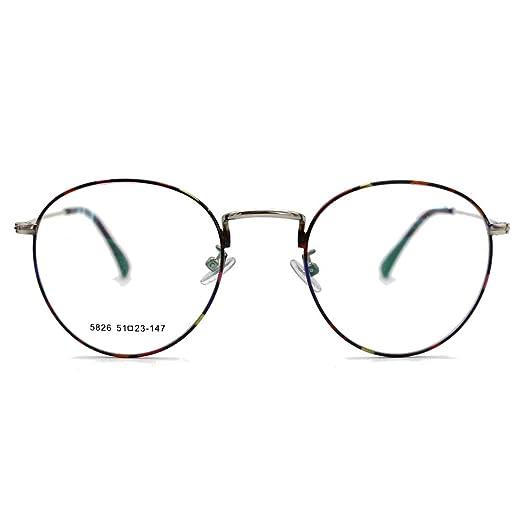 d36cd5b03f281 Natwve Co 2018 Vintage Round Circle Eyeglasses Retro Fashion Clear Lens  Glasses (5826) (Flower