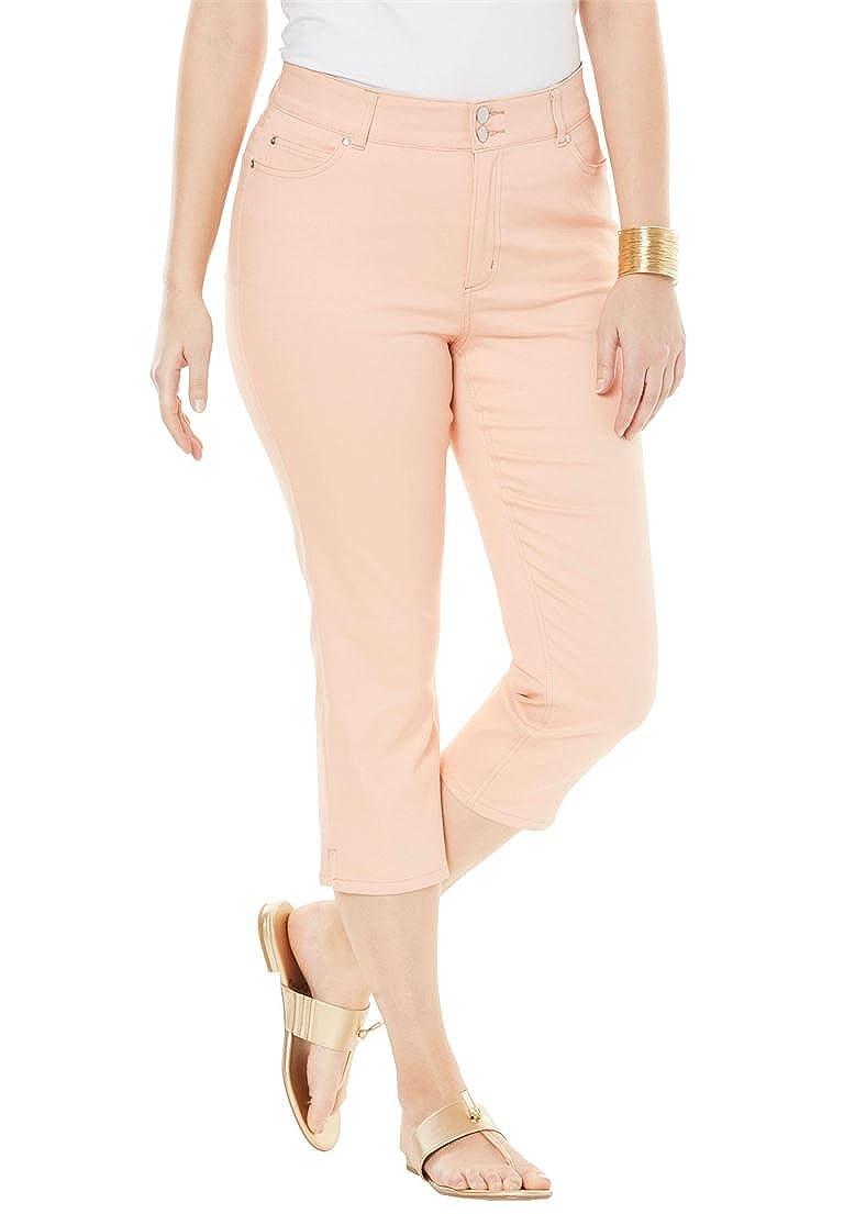 096c6fee037 Jessica London Women s Plus Size Tummy-Control Denim Capris at Amazon  Women s Jeans store