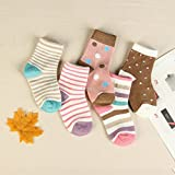 Children's Spring and Autumn and winter baby cotton socks in tube socks 0-1-3-6-9 year-old boys and girls students socks boat socks