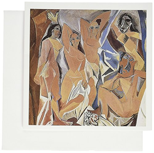 3dRose Les Demoiselles dAvigon by Pablo Picasso - Greeting Cards, 6 x 6 inches, set of 6 (gc_128007_1) ()