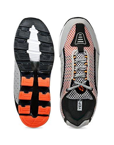 Yepme - Zapatillas de atletismo de Material Sintético para hombre gris gris