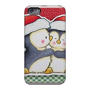 CharlesPoirier Apple Iphone 6 Shockproof Hard Phone Case Provide Private Custom Fashion Christmas Penguins Skin [ako24823jzzP]