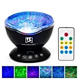 [GENERATION 3]Weirdbeast Remote Control Ocean Wave Project Sleep Night Lights with Built-in Ambient Audio Bedroom Living Room Decoration Lamp for Kids/Adult - Black