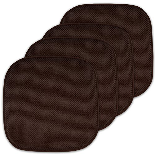 "4 Pack Memory Foam Honeycomb Nonslip Back 16"" x16"" Chair/Sea"