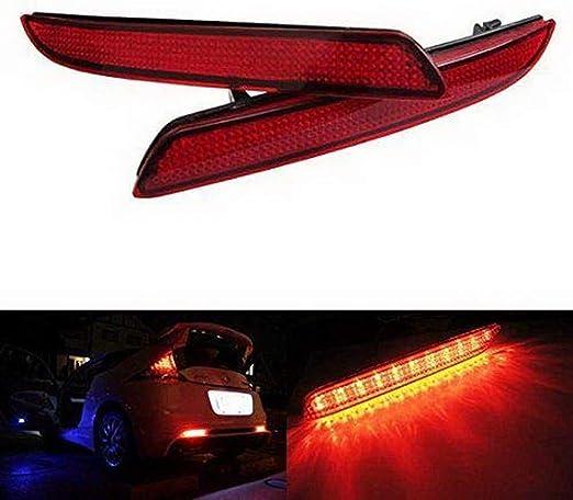 LEDIN For Honda CR-V CR-Z Insight Black Smoked Lens Bumper Reflector LED Tail Brake Light