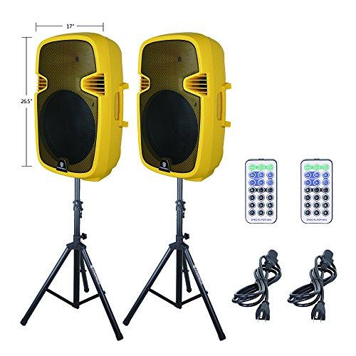 PRORECK PR-C15 Portable 15-inch 600 Watt 2-way Powered Dj/PA Speaker