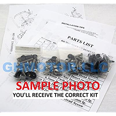 2006 2007 GSX-R GSXR 600 750 Complete Fairings Bolts Screws Fasteners Kit Set Made in USA Black: Automotive