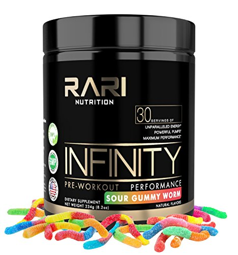 RARI Nutrition - Infinity - 100% Natural Pre Workout Powder for Energy, Focus, and Performance - Vegan and Keto Friendly - No Creatine - No Artificial Ingredients - 30 Servings (Sour Gummy Worm) by RARI Nutrition (Image #6)