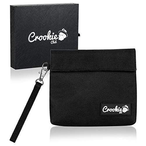 Crookie Club Personal Smell Proof Bag - Anti Odor Smellproof Pouch for Tea, Herbs, Spices, Smelly Accessories and Personal Items