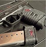 Talon Grip for Springfield Arms XD-S 9mm/.45 Black Rubber - 207R W/ Free Sticker - Johnson Enterprises, LLC