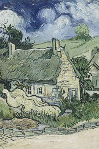 Art Journal: Thatched Cottages at Cordeville - Vincent van Gogh Art Cover College Ruled Notebook | 110 ()