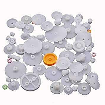 64 Plastic Shaft Single Double Layer Reduction Crown Worm Gears M0.5 for Robot