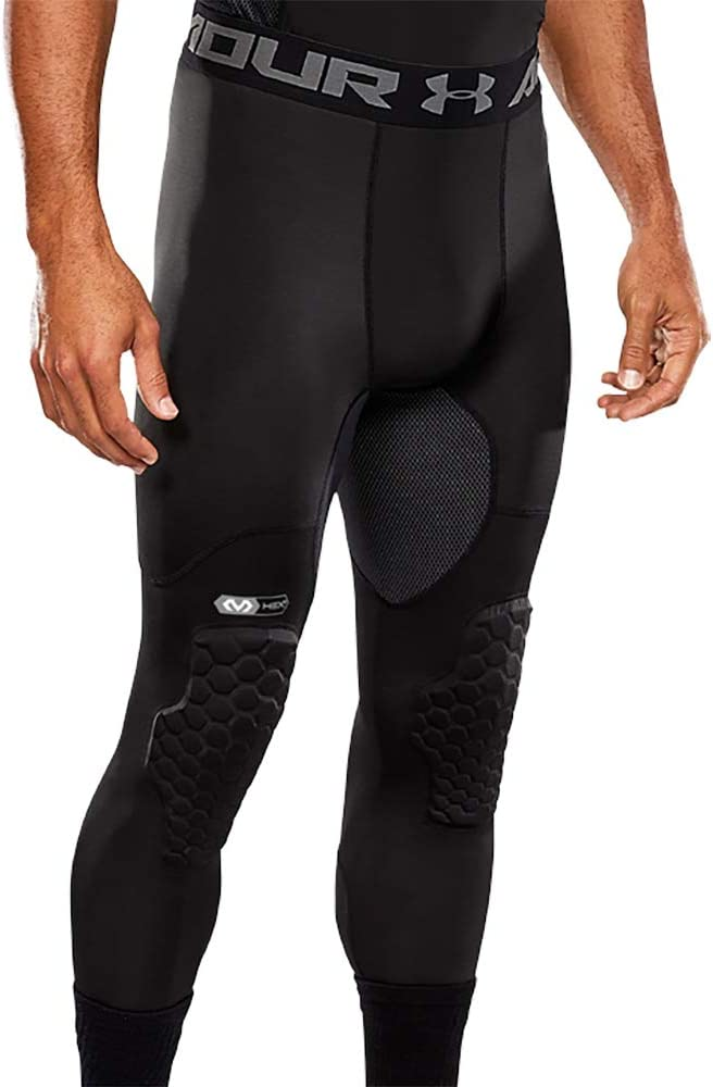Under Armour Basketball Hex Padded Tights, Compression Tights with Pads for Basketball, Lacrosse, Football