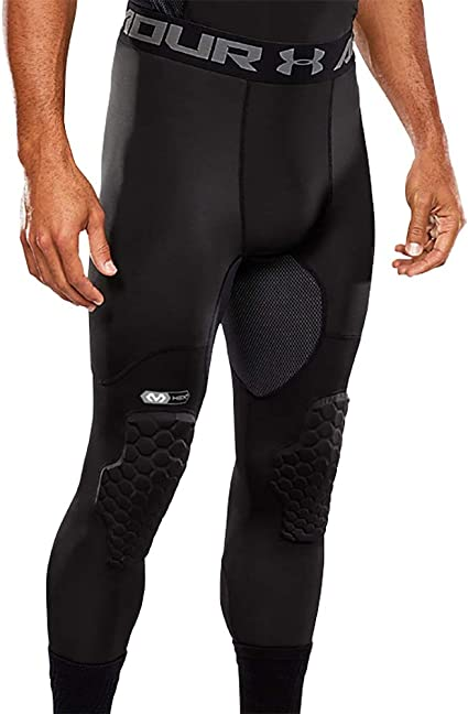 Amazon Com Under Armour Basketball Hex Padded Tights Compression Tights With Pads For Basketball Lacrosse Football Sports Outdoors