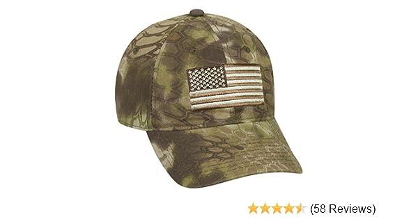 76fcb83dbe3de Amazon.com   Kryptek Adjustable Closure Tonal American Flag Cap ...