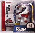 McFarlane Toys NHL Sports Picks Series 10 Action Figure Rick Nash (Columbus Blue Jackets) White Jersey