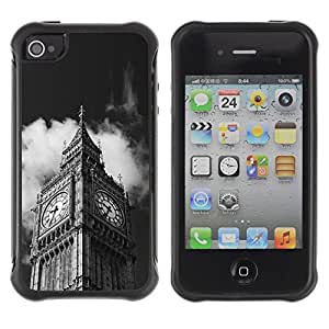 Suave TPU GEL Carcasa Funda Silicona Blando Estuche Caso de protección (para) Apple Iphone 4 / 4S / CECELL Phone case / / Architecture Big Ben Close Up London /