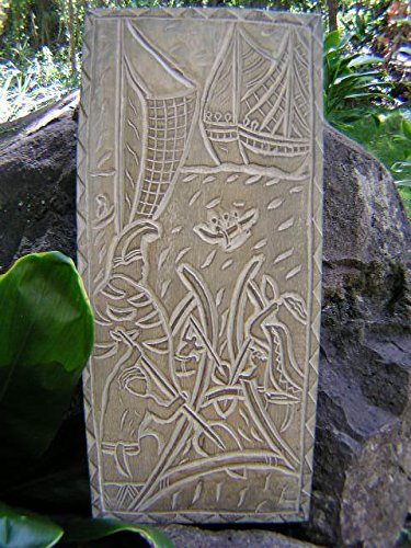TikiMaster KING OF THE ISLAND CHAINS - KING KAMEHAMEHA - HAND CARVED STORYBOARD by TikiMaster