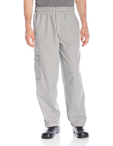 Chef Code Men's Black and White Check Cargo Pant, Check Black/White, 2X-Large by Chef Code